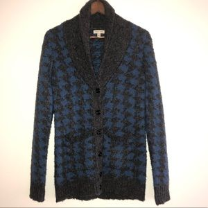 Silence & Noise Houndstooth Cardigan Size Small